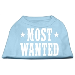 Mirage Pet Products Most Wanted Screen Print Shirt Baby Blue Sm (10)