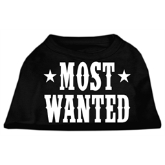 Mirage Pet Products Most Wanted Screen Print Shirt Black  XXL (18)