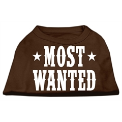 Mirage Pet Products Most Wanted Screen Print Shirt Brown XL (16)