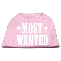 Mirage Pet Products Most Wanted Screen Print Shirt Light Pink Sm (10)