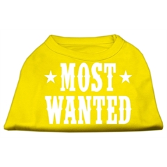 Mirage Pet Products Most Wanted Screen Print Shirt Yellow Med (12)
