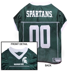 Mirage Pet Products Michigan State Spartans Jersey Medium