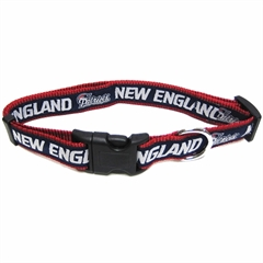 Mirage Pet Products New England Patriots Collar Large