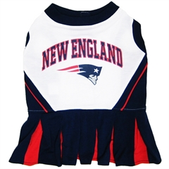 Mirage Pet Products New England Patriots Cheer Leading XS