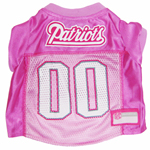 Mirage Pet Products New England Patriots Pink Jersey LG