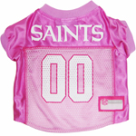 Mirage Pet Products New Orleans Saints Pink Jersey LG