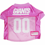 Mirage Pet Products New York Giants Pink Jersey LG
