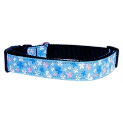 Mirage Pet Products Butterfly Nylon Ribbon Collar Blue Sm