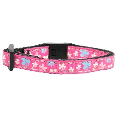 Mirage Pet Products Butterfly Nylon Ribbon Collar Pink Cat Safety