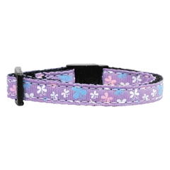 Mirage Pet Products Butterfly Nylon Ribbon Collar Lavender Cat Safety