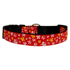 Mirage Pet Products Butterfly Nylon Ribbon Collar Red XS