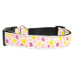 Mirage Pet Products Butterfly Nylon Ribbon Collar White Large