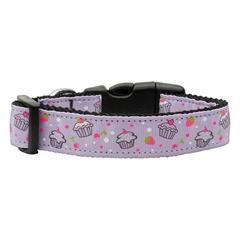 Mirage Pet Products Cupcakes Nylon Ribbon Collar Purple Medium