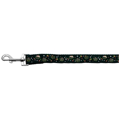 Mirage Pet Products Cupcakes Nylon Ribbon Leash Black 1 inch wide 6ft Long