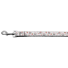 Mirage Pet Products Cupcakes Nylon Ribbon Leash White 1 inch wide 4ft Long