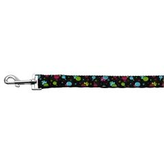 Mirage Pet Products Lollipops Nylon Ribbon Leash Black 1 inch wide 6ft Long