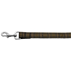 Mirage Pet Products Plaid Nylon Collar  Brown 1 wide 4ft Lsh