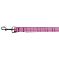Mirage Pet Products Plaid Nylon Collar  Pink 1 wide 6ft Lsh