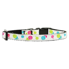 Mirage Pet Products Lollipops Nylon Ribbon Collar White Small
