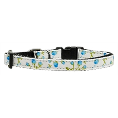 Mirage Pet Products Roses Nylon Ribbon Collar Blue X-Small