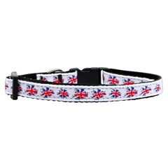 Mirage Pet Products Graffiti Union Jack(UK Flag) Nylon Ribbon Collar X-Small