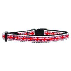 Mirage Pet Products Tiled Union Jack(UK Flag) Nylon Ribbon Collar Cat Safety