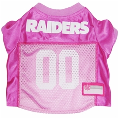 Mirage Pet Products Oakland Raiders Pink Jersey XS