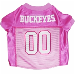 Mirage Pet Products Ohio State Buckeyes Pink Jersey MD
