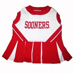 Mirage Pet Products Oklahoma Sooners  Cheer Leading XS