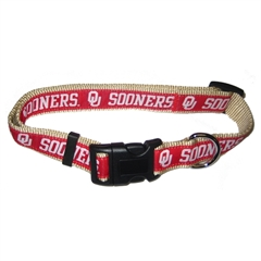 Mirage Pet Products Oklahoma Sooners  Collar Large