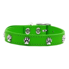 Mirage Pet Products Paw Leather  Emerald Green 16
