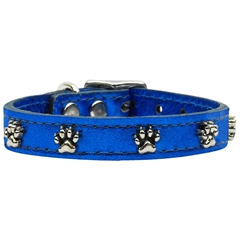 Mirage Pet Products Metallic Paw Leather  BlueMTL 20