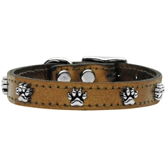 Mirage Pet Products Metallic Paw Leather  Bronze 14
