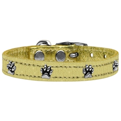 Mirage Pet Products Metallic Paw Leather  Gold 24