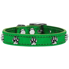 Mirage Pet Products Metallic Paw Leather  Emerald Green MTL 24