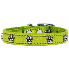 Mirage Pet Products Metallic Paw Leather  Lime Green MTL 18