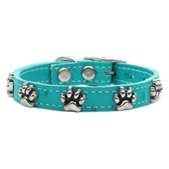 Mirage Pet Products Faux Ostrich Paw Leather Turquoise 14