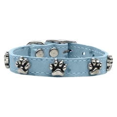 Mirage Pet Products Faux Ostrich Paw Leather Baby Blue 10