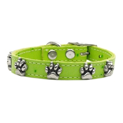 Mirage Pet Products Faux Ostrich Paw Leather Lime Green 10