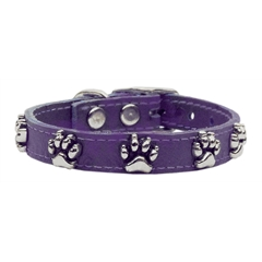 Mirage Pet Products Faux Ostrich Paw Leather Purple 24