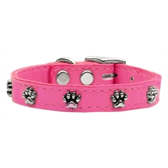 Mirage Pet Products Paw Leather  Pink 18