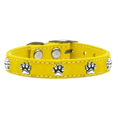 Mirage Pet Products Paw Leather  Yellow 10