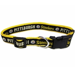 Mirage Pet Products Pittsburgh Steelers Collar Medium