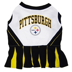 Mirage Pet Products Pittsburgh Steelers Cheer Leading SM