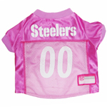 Mirage Pet Products Pittsburgh Steelers Pink Jersey LG
