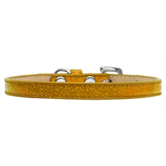 Mirage Pet Products Plain Ice Cream Collars Gold 10