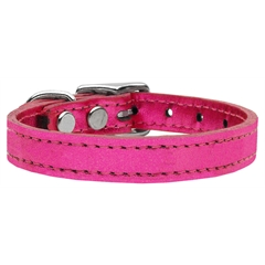 Mirage Pet Products Plain Metallic Leather Metallic Pink 26
