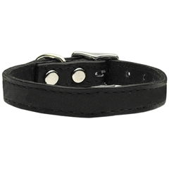 Mirage Pet Products Plain Leather Collars Black 10