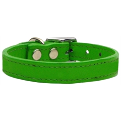 Mirage Pet Products Plain Leather Collars Emerald Green 16