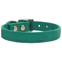 Mirage Pet Products Plain Leather Collars Jade 22